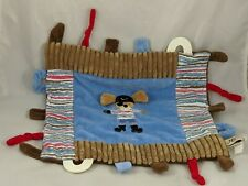 Maison Chic Dog Pirate Lovey Security Blanket Stuffed Animal Toy