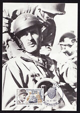 1987 French Postcard 1er General Leclerc Marechal De France Army FDC Military PC