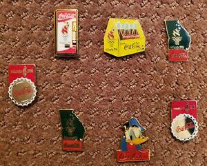7 - 1996 OLYMPIC GAMES COCA COLA  PINS + 2 -1994 COCA COLA PINS
