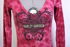 Harley Davidson Motorcycles Bartels Los Angeles CA gray cream red shirt Small