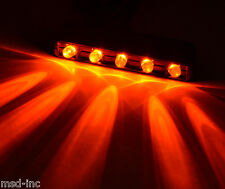 12V dc ORANGE 5 LED pod D.I.Y path lazer step light for home motorcycle car boat