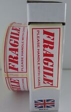 Fragile Labels - Fragile Stickers,  1000 On A Roll (Not Sheets) 80mm x 34mm