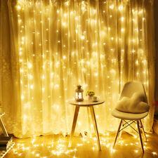 3 M 300Led Window Curtain Icicle String Fairy Lights Party Decor Xmas V5Q8