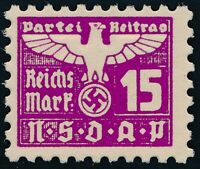 Stamp Germany Revenue Parteitag WWII 1935 3rd Reich War Era Party Due 015 MNG