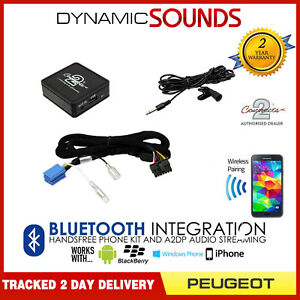 Car Bluetooth Adapter Streaming Handsfree Calls for Peugeot 206 2002-2009