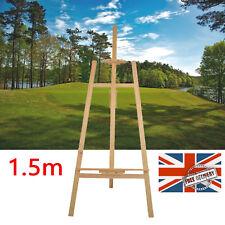STUDIO Wooden EASEL 5ft 1.5M ARTIST ART CRAFT DISPLAY Stand Tripod WOOD Wedding