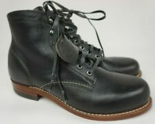 Wolverine 1000 Mile Plain Toe Black Leather Boots Size 7.5 D