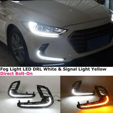 17-18 For Hyundai Elantra DRL LED DAYTIME RUNNING LIGHT FOG LAMP W/ TURN SIGNAL