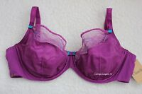 "NWT Chantelle 2561 ""Superbe"" 3- Part Soft Cup Plunge Lace Bra Magenta"
