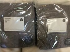 West Elm Two (2) Crossweave Blackout Curtains 48x84 NWT Charcoal Gray