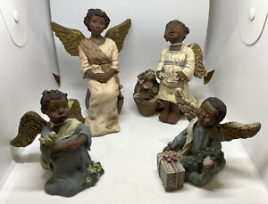 VINTAGE SARAHS ATTIC LE  FIGURINES - Set Of 4 ANGLES