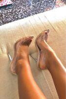 Escarpins Sexy Transparent Haut Talons 11 cm /  du 35 au 42!