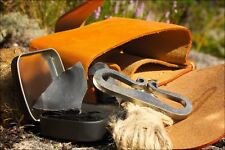 Flint and Steel Primitive Fire Starting Kit With Hand Forged Fire Striker