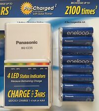 Panasonic Eneloop Rechargeable Batteries 8 AA & Quick LED Charger Kit