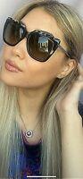 New FENDI FF 0087/S CU1DX 53mm Black Gray Women's Sunglasses Italy