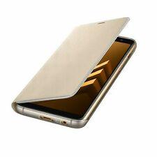 Samsung Custodia Originale Galaxy A8 2018 A530F Neon Flip Cover libro Case oro