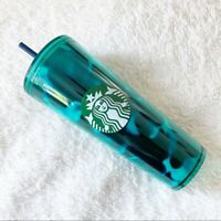 Starbucks Summer 2020 Teal Blue Turquoise Tortoise Cold Tumbler LIMITED EDITION