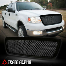 Fits 2004-2008 Ford F150/Mark LT<3D WAVE MESH>Glossy Black Bumper Grille Grill