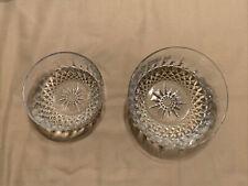 "TWO Arcoroc Bowls - 5"" USA And 4"" French Salad Dessert Vintage glass starburst"