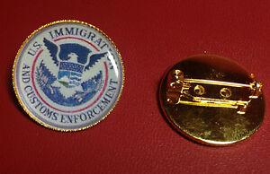 U.S.IMMIGRATION & CUSTOMS ENFORCEMENT I.C.E.  Gold Plated PIN Badge