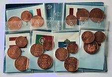 Euro Kleinmünzen 1, 2, 5 Cent 13 Länder inkl. San Marino