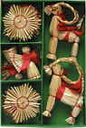 Scandinavian Swedish Norwegian Danish Straw Christmas Ornaments 16 pc box