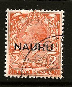 NAURU (Z-809)1923 SG16 SOMERSET HOUSE 13.5 mm O/PRINTS  VERY FINE TO GOOD USED
