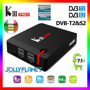 Mecool K3 Pro Smart TV Box DVB-T2/S2/C Android 7.1 3GB/16GB S912 4K K2 K5 WiFi