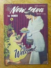 The New Idea magazine, February 3, 1954, Queen Elizabeth visit cover