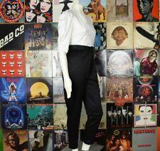 Vintage 70s 80s Pants Jumpsuit Romper Size Small Black White Disco