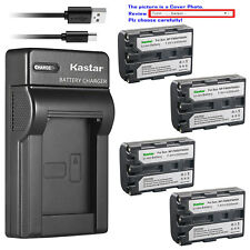 Kastar Battery Slim Charger for Sony NP-FM50 BCVM50 & Cyber-shot DSC-F828 DSC-R1