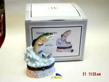 Phb Midwest Rainbow Trout Trinket Box W/ Fishing Lure Trinket