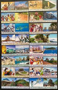 Korea 2002 Local City 32 Stamps Complete series-Landscape, life, Celebrations