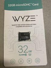 Wyze Micro SD Cards Labs Expandable Storage 32GB MicroSDHC Class 10 Camera NEW