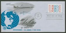 #UC48 18c Globe and Jet, Art Craft FDC **ANY 4=FREE SHIPPING**