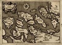 Zeeland Nederland Netherlands 1576 Porcacchi miniature decorative map
