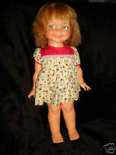 Vintage 60s-1966 Ideal Giggles-Head-Eyes Move-Toy Doll