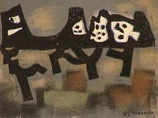 Raymond GUERRIER (1920-2002) Technique mixte signée sur papier Expressionnisme