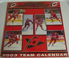 2003 Carolina Hurricanes Team Calendar NHL Hockey SEALED New Eric Cole Sean Hill