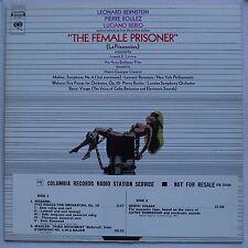 THE FEMALE PRISONER SOUNDTRACK 1969 LP BERNSTEIN/BOULEZ/BERIO/MAHLER/WEBERN