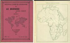 cahier de géographie le Monde moins l'Europe 1930-40 Chosson à Romans Dröme
