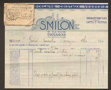 """CHATEAUROUX (36) PORCELAINE / CRISTAL """"S. MILON"""" en 1932"""