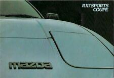 Mazda RX-7 1984-86 UK Market Sales Brochure