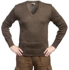 Mens M85 Czech Army Wool Jumper VNeck Thermal Genuine Surplus Sweater Ladies