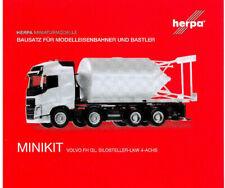 HERPA MiniKit 1:87/H0 Volvo FH Gl. Silosteller-LKW 4-achs, weiß Bausatz #013604
