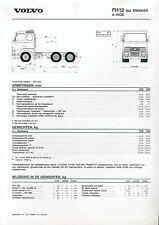Volvo FH 12 6x2 Trekker A-Ride Prospekt  NL 1/95 brochure 1995 Lkw lastbil