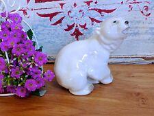 VINTAGE USSR LOMONOSOV BABY POLAR BEAR / RUSSIAN PORCELAIN / LOMONOSOV BEAR