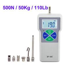 500n 50kg Digital Dynamometer Push Pull Force Gauge Tester Meter
