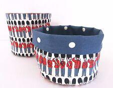 Handmade Storage Basket Tub - Cath Kidston Guards Soldiers & Dots Blue Nursery