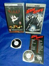 PSP UMD Video; Frank Miller's Sin City, w/ Insert, Blood The Last Vampire, VG